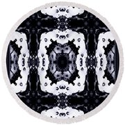 Floral Abstract Round Beach Towel