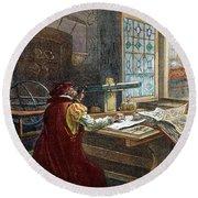 Galileo Galilei, 1564-1642 Round Beach Towel