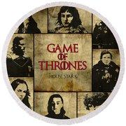 Game Of Thrones. House Stark. Round Beach Towel