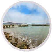 Golden Gate Bridge Crissy Field Round Beach Towel