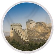 Great Wall Of China - Jinshanling Round Beach Towel