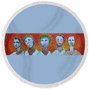 5 Guys Round Beach Towel