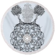 Hebrew Prayer- Toda- Thanks To The Lord Round Beach Towel