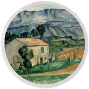 House In Provence Round Beach Towel