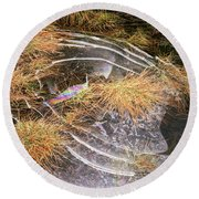 5. Ice Prismatics In Grass 2, Loch Tulla Round Beach Towel