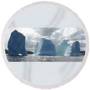 Iceberg Round Beach Towel