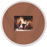 In Disgrace William Henry Midwood Round Beach Towel