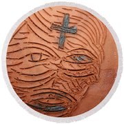 Jesus Christ  - Tile Round Beach Towel