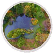 Kingwood Center Gardens Round Beach Towel