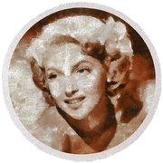Lana Turner Vintage Hollywood Actress Round Beach Towel