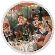 Luncheon Of The Boating Party Round Beach Towel