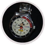 Mickey Mouse Watch Round Beach Towel