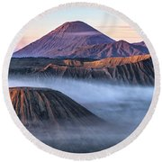 Mount Bromo - Java Round Beach Towel