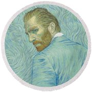 Our Loving Vincent Round Beach Towel