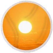 Ocean Sunrise Sunset Round Beach Towel