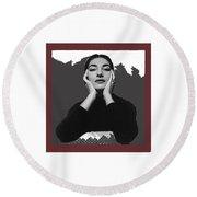 Opera Singer Maria Callas No Date-2010 Round Beach Towel