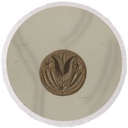 Pa. German Butter Mold Round Beach Towel