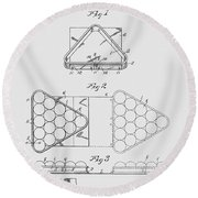 Pool Table Triangle Patent From 1915 Round Beach Towel