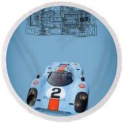 Porsche 917 Round Beach Towel