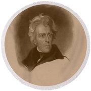 President Andrew Jackson Round Beach Towel