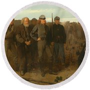 Prisoners From The Front Round Beach Towel