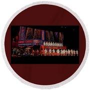 Radio City Rockettes New York City Round Beach Towel