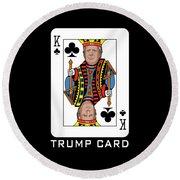 Reelect Trump For President Keep America Great Dark Round Beach Towel