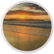 Sunrise Seascape At The Beach Round Beach Towel