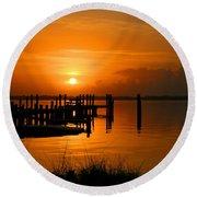 Sunrise / Sunset / Indian River Round Beach Towel