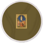 The Ascension Henry Siddons Mowbray Round Beach Towel