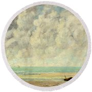 The Calm Sea Round Beach Towel