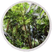 The El Yunque National Forest, Puerto Rico Round Beach Towel