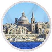 Valletta - Malta Round Beach Towel