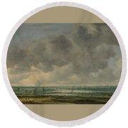 View Of Haarlem And The Haarlemmer Meer Round Beach Towel