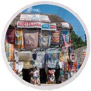 Village Of Coba Round Beach Towel