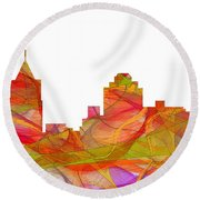 Virginia Beach  Virginia Skyline Round Beach Towel