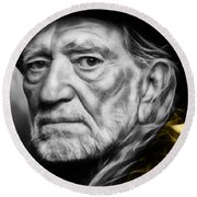 Willie Nelson Collection Round Beach Towel