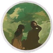 Your Name. Round Beach Towel