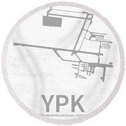 Ypk Pitt Meadows Regional Airport In Pitt Meadows Canada Runway  Round Beach Towel
