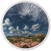 Zion Kolob Terrace Round Beach Towel