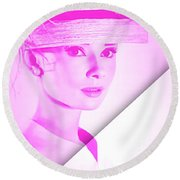 Audrey Hepburn Collection Round Beach Towel
