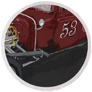 '53 Rat Rod Round Beach Towel