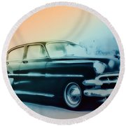 54 Chevy Round Beach Towel