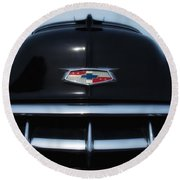 54 Chevy Grill Round Beach Towel