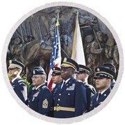 54th Regiment Bos2015_183 Round Beach Towel