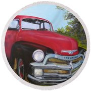 55 Chevy Truck Round Beach Towel