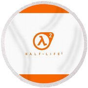 Half-life Round Beach Towel