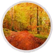 Nature New Landscape Round Beach Towel