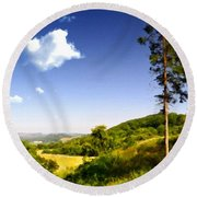 Paint Landscapes Round Beach Towel