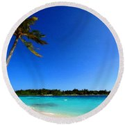 Landscape In Painting Round Beach Towel